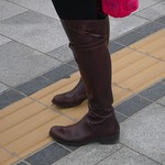 low heel over knee boots