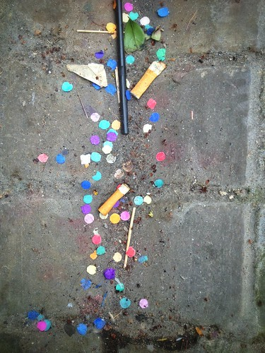 Cigarette butts and confetti | by photomoth