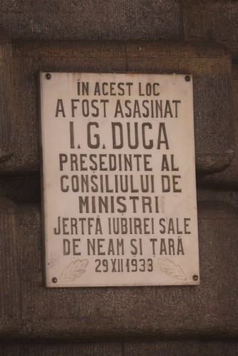 Memorial plaque at Sinaia railway station in Romania | by Marcus Wong from Geelong