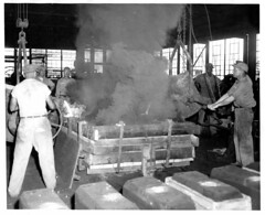 10. Two ladle pour of large casting at 1005 Commerce Rd.  Times Dispatch Article.