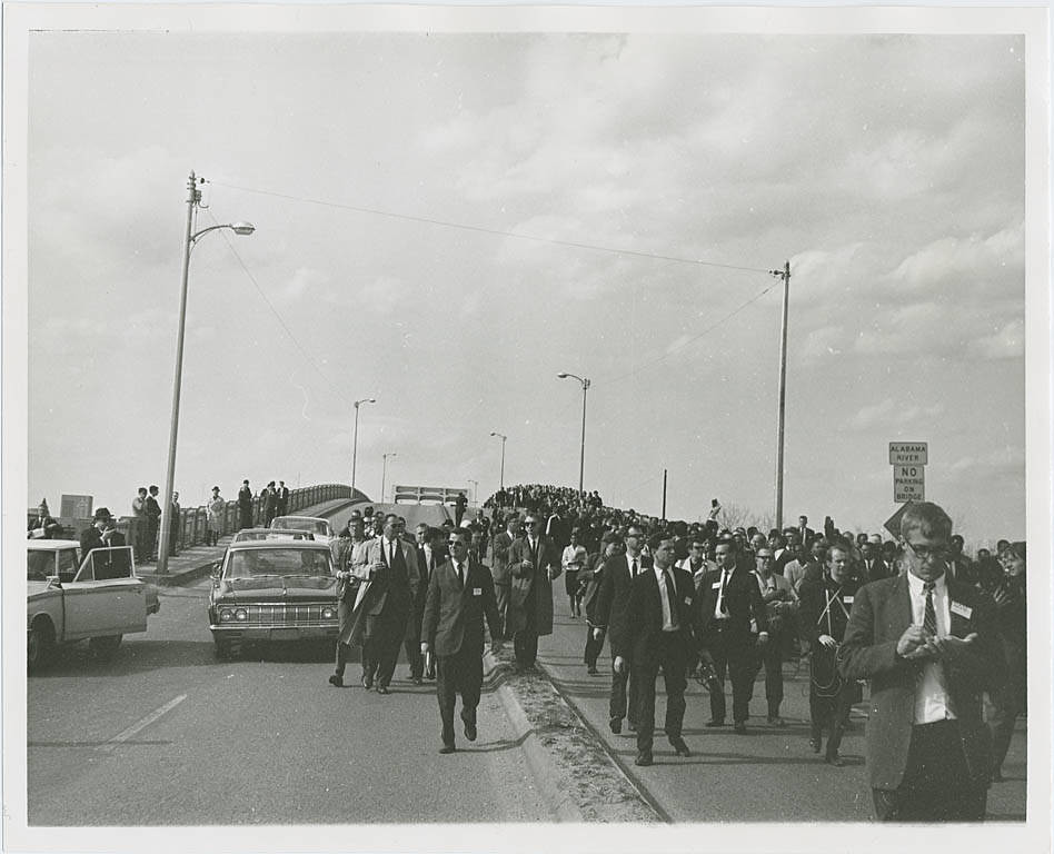 """""""Alabama civil rights movement: Selma to Montgomery march, halted at the Edmund Pettus bridge (Tuesday, March 9, 1965)"""" by Penn State Special Collections Library is licensed under CC BY-NC-SA 2.0"""