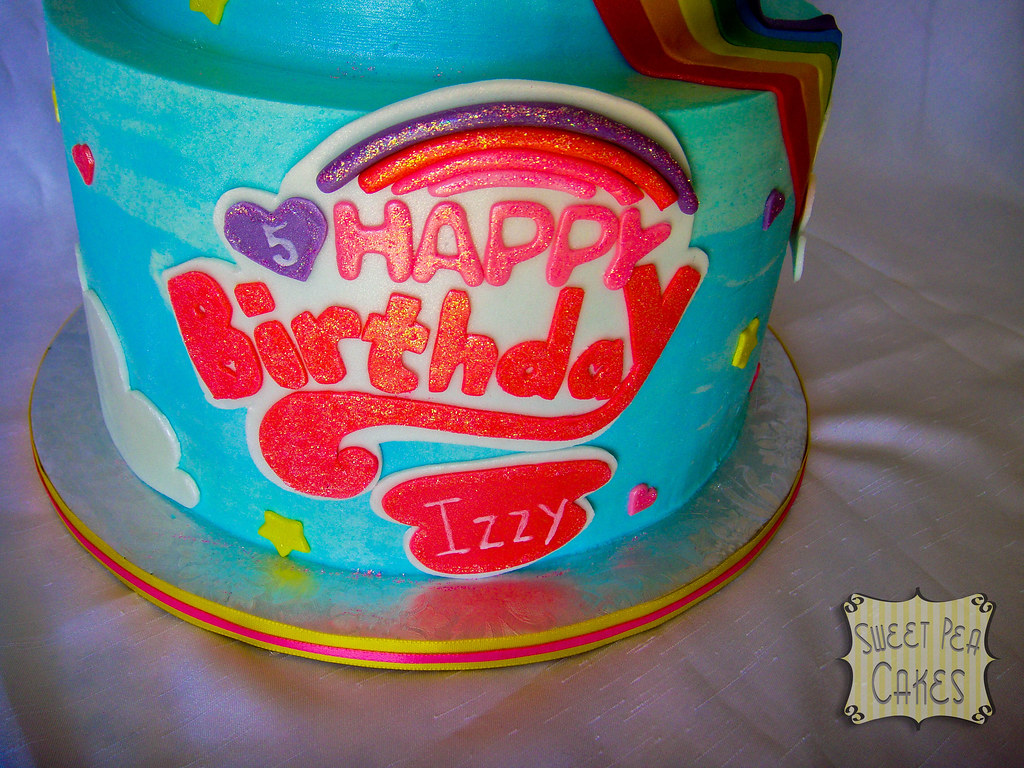 Prime Rainbow Dash Birthday Cake Close Up Of Birthday Logo Flickr Funny Birthday Cards Online Eattedamsfinfo