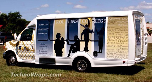 Shuttle bus wrap by TechnoSigns