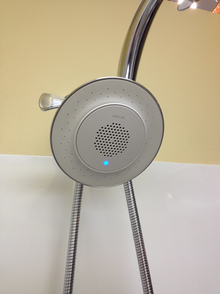 The Kohler Moxie Blutooth Shower Head Litt S Plumbing