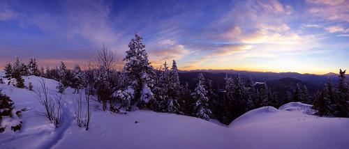 winter sunset snow newyork mountains adirondacks