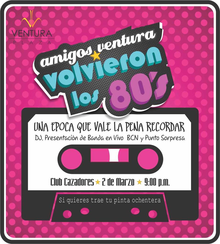 Invitación Fiesta Ochentera Carolina Luna Flickr