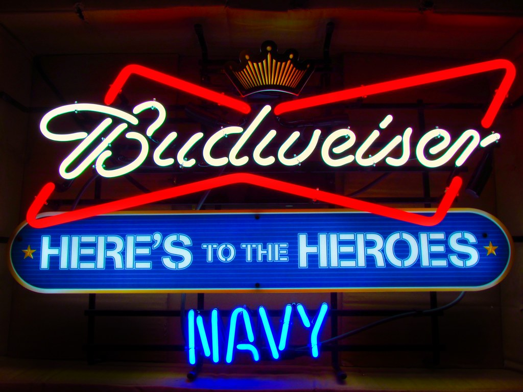 Budweiser Navy Heroes Neon Sign | Neon Beer Signs For Sale