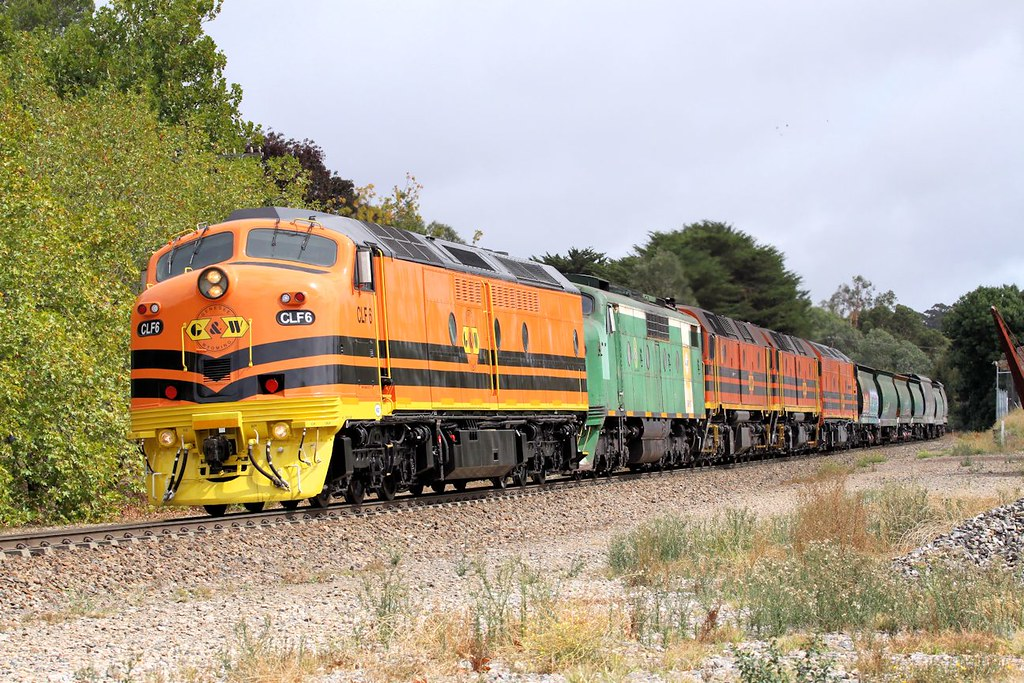CLF6 GM40 2212 2216 CLP8 1281s Empty GWA Tailem Bend Grain Nairne-A 31 03 2013 by Daven Walters