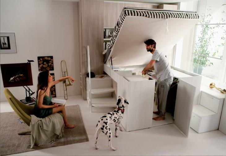 Una camera matrimoniale a soppalco | Dielle Modus: design e ...