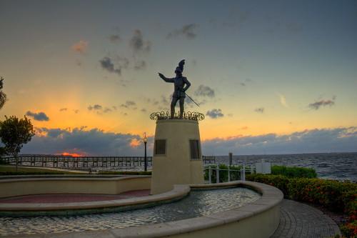sunset statue canon florida puntagorda poncedeleon eos60d