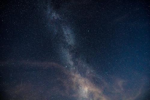 Die Milchstraße über Falken-Gesäß