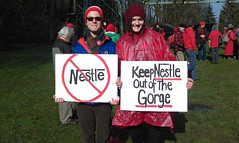 No Nestle activists