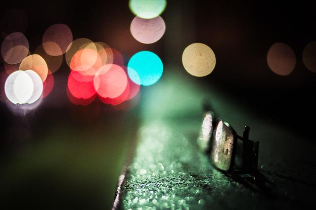 Glasses in a blur