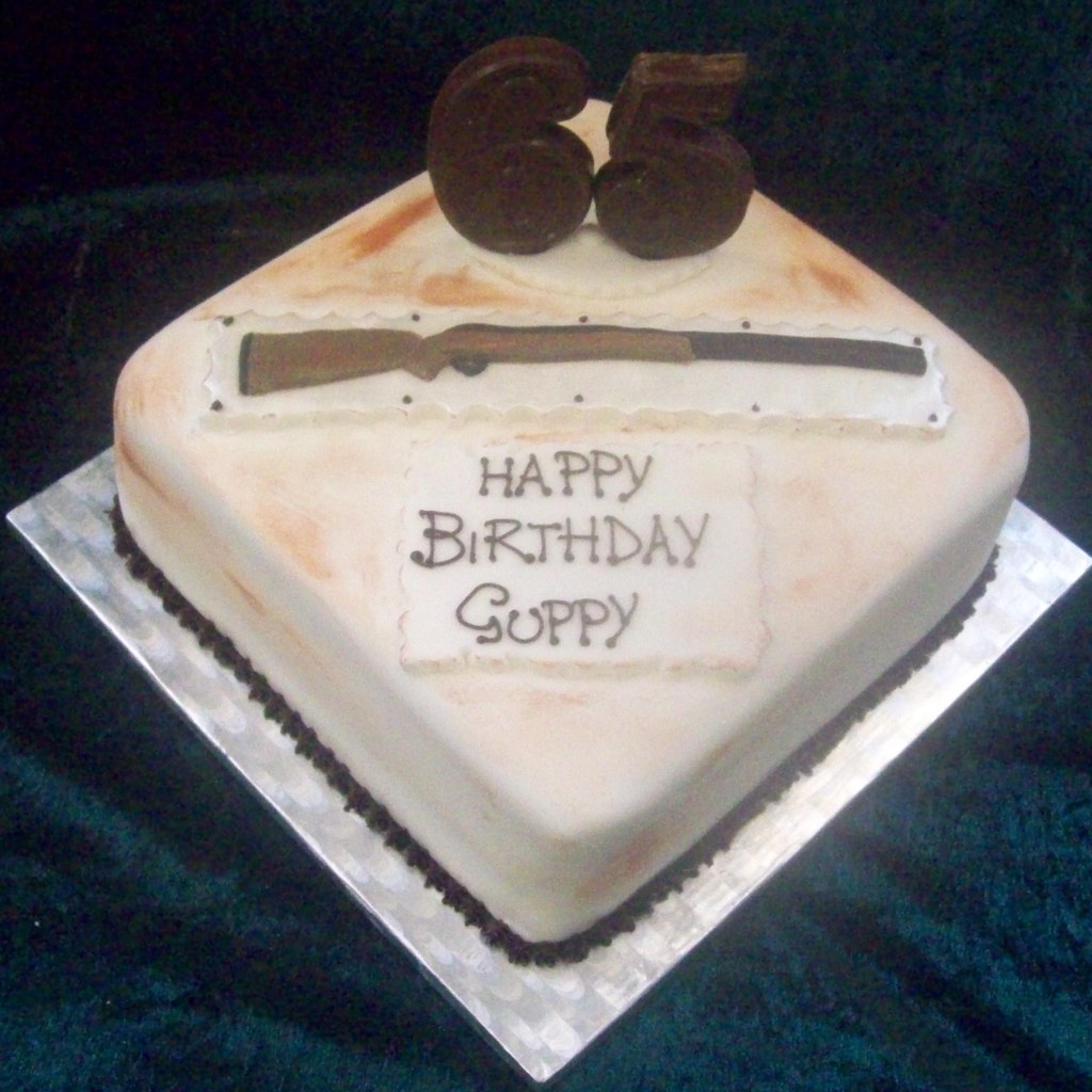 Rifle Shotgun Mens 65th Birthday Cake Reids Highland Fare Flickr