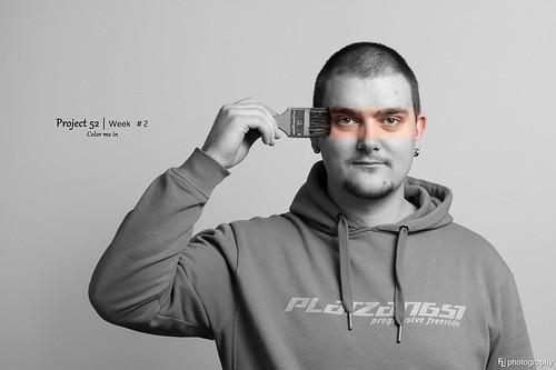 selfportrait color deutschland thüringen blackwhite brush whitebackground selfie zellamehlis project52