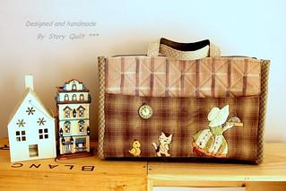 Sunbonnet Sue applique handmade bag