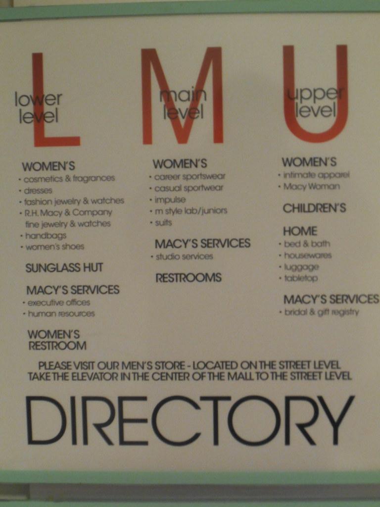 9391472521cb8 Macy s Beverly Center Directory