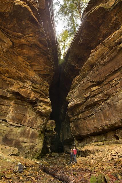 Devils Cave entrance 2, Big South Fork NRRA, Scott Co, TN