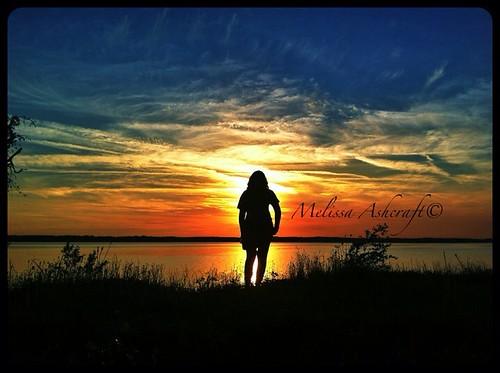 sunset silouette magichour lakepalestine
