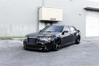 Chrysler 300C Bagged on CW-5 Custom Liquid Smoke Finish | by Concavo Wheels