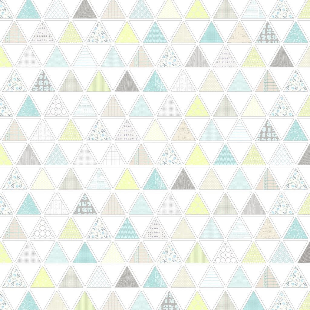 picture regarding Printable Patterned Paper named 1 behavior-loaded triangles - no cost printable electronic patter