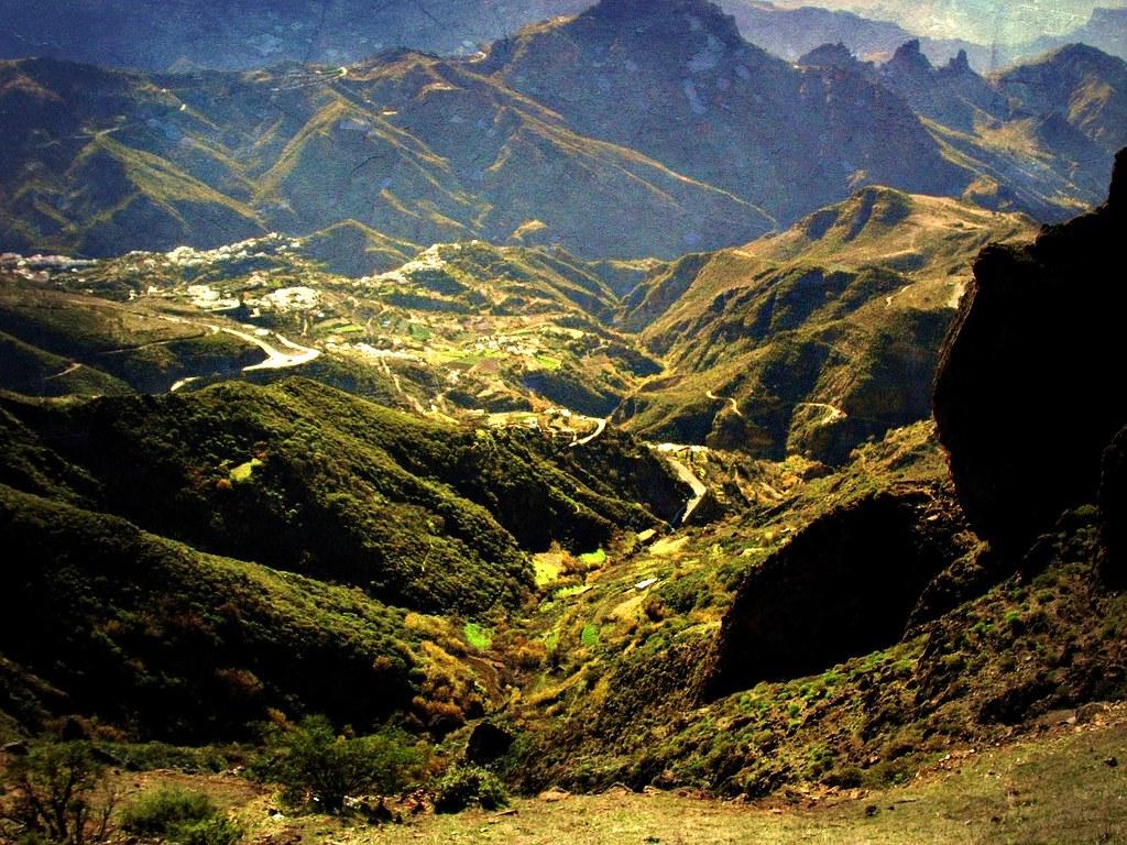 Gran Canaria, Bergwelt im Innern , (Roque Bentayga,) , 3-45/1915