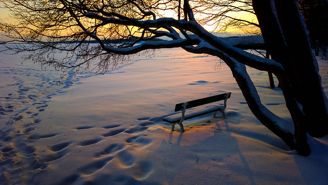 A seat in sunset