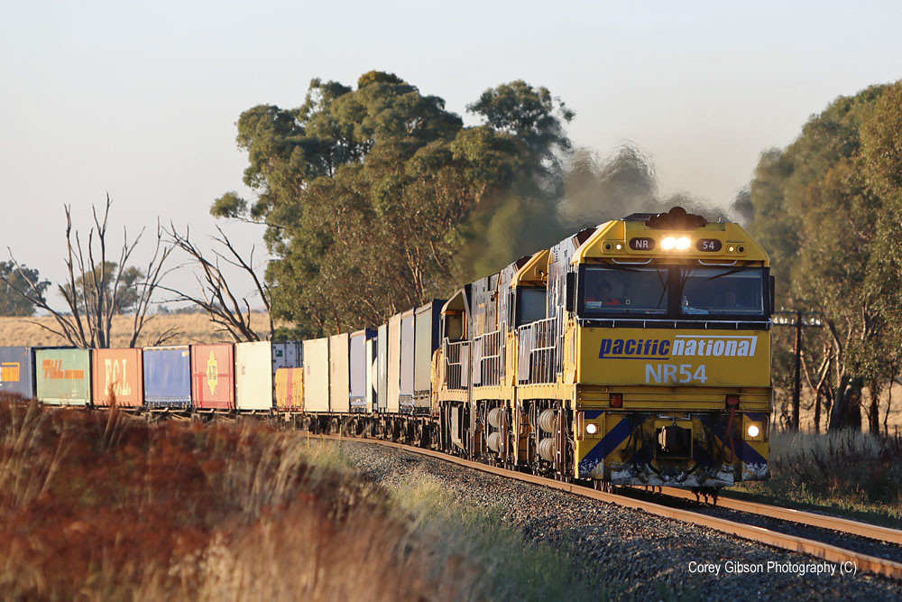 NR54 Sydney to Perth freight near Cootamundra by Corey Gibson