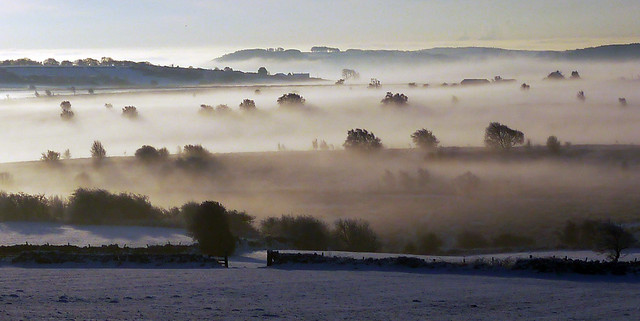 Darley Moor - snowy sunrise