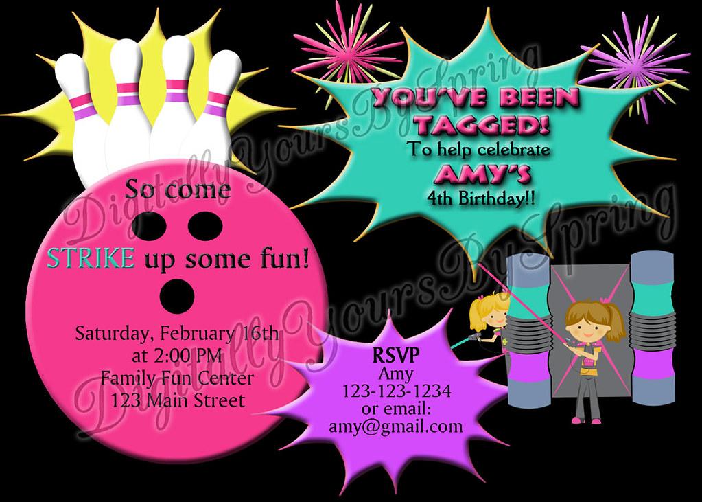 image regarding Printable Laser Tag Birthday Invitations identified as Printable Laser Tag Birthday Social gathering Invitation Will need a diffe