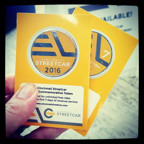 Picked up a couple of the @cincy_streetcar 2016 commemorative tokens today. #cincystreetcar #souvenirs #ISawTheStreetcar | by thadd