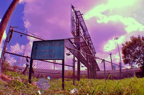 "pink sky sign clouds fence landscape alyssa dump wideangle miller l nikond5000 alyssalmiller ""notrespassing"" ""alyssalmiller"""