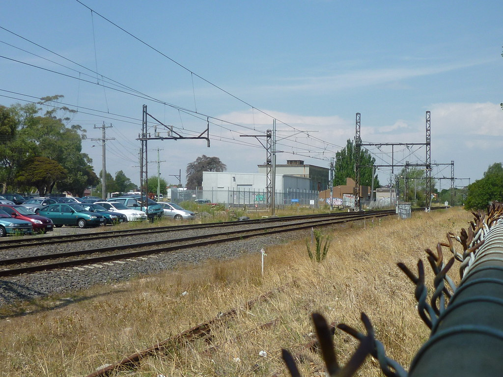 Former Springvale Cemetery Line Junction by AS 1979