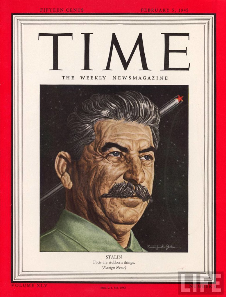 TIME cover Feb 05-1945 ill. of Soviet dictator Joseph Stalin