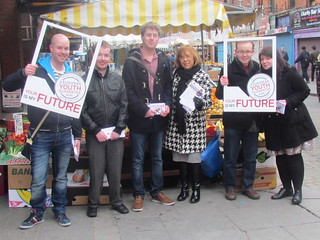 Emer Costello MEP canvassing with Labour Youth in Dublin
