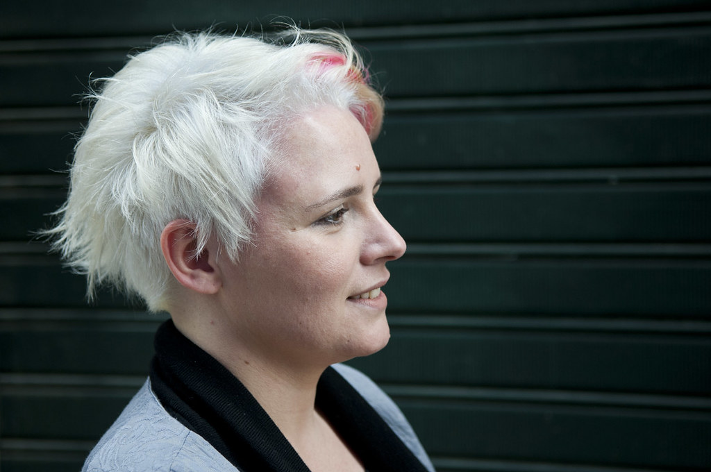 Short White Hair With Pink Highlights Haircut And Color By