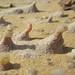 Microformas grabadas (etching) - Crta. Mut (Dakhla)-El Ewainat (Egipto) - 01 by Banco de Imágenes Geológicas