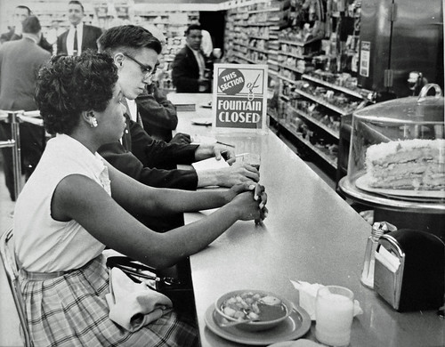 Counter Closed During Sit-In: Arlington, Virginia: 1960