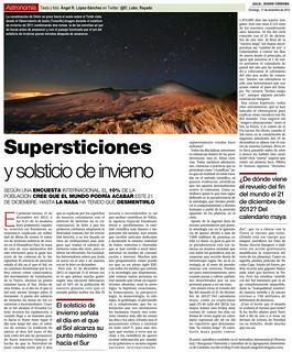 Zoco Astronomía: Supersticiones en el Solsticio de Invierno | by Ángel López-Sánchez