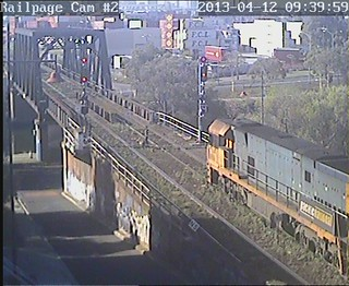 NR86-NR106 5AM5(9702) PN Superfreighter from Adelaide 12-4-2013. | by Railpage - Bunbury Street Camera 2