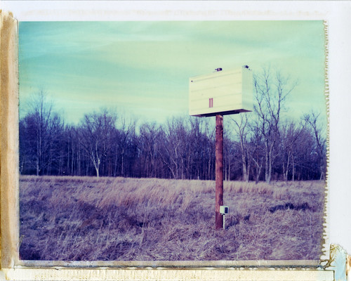 church field sign polaroid spring indiana 11 instant 195 laporte type669 expired052006 lifetemple