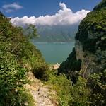 Spectacular hiking path Prabione to Campione