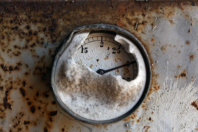 Manometer at old distillery