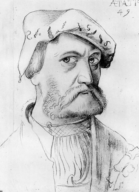 Hans Baldung Grien - Self-portrait aged 49 years [1534]