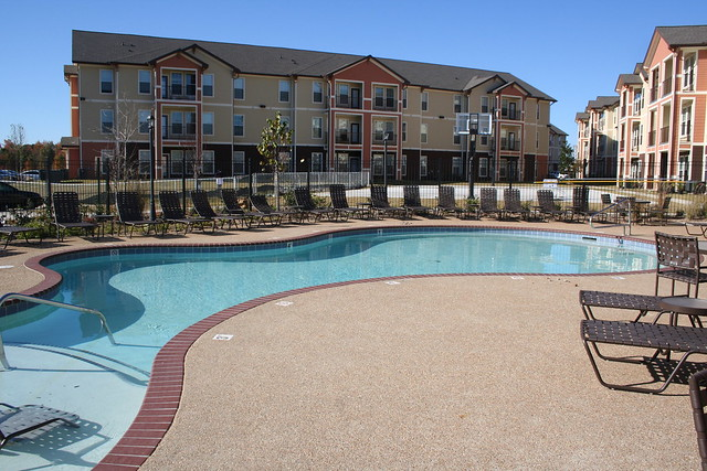 University Village Exterior and pool