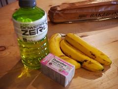 日, 2013-02-24 08:08 - Ibuprofen(鎮痛剤)、スポーツドリンクとバナナ
