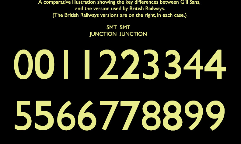 Gill Sans and British Railways.