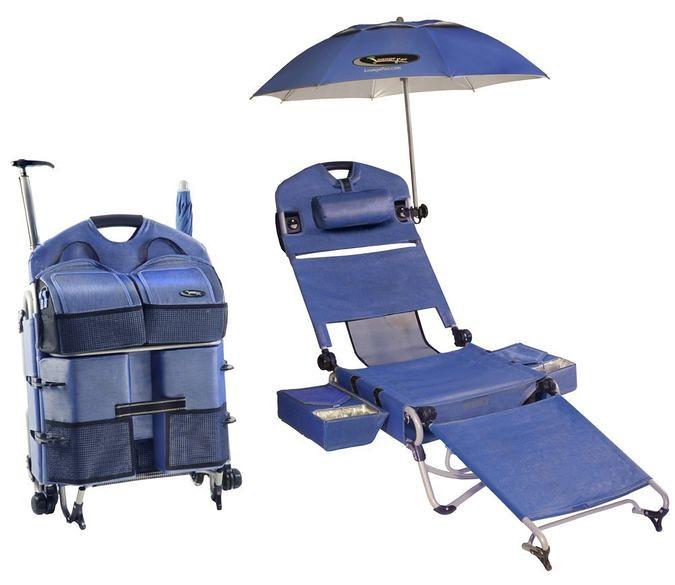 LoungePac – The Portable Beach Chair Featuring a Fridge, U ...