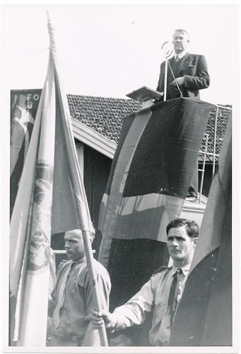 Vidkun Quisling på talerstolen, 1930-tallet.