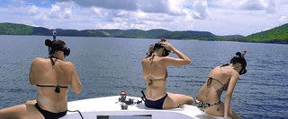 Three Snorkelers Sitting | by Culebra Snorkeling